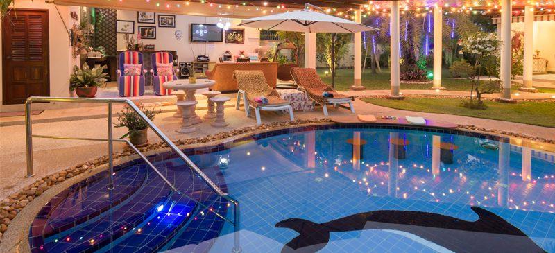 Cool pool in villa